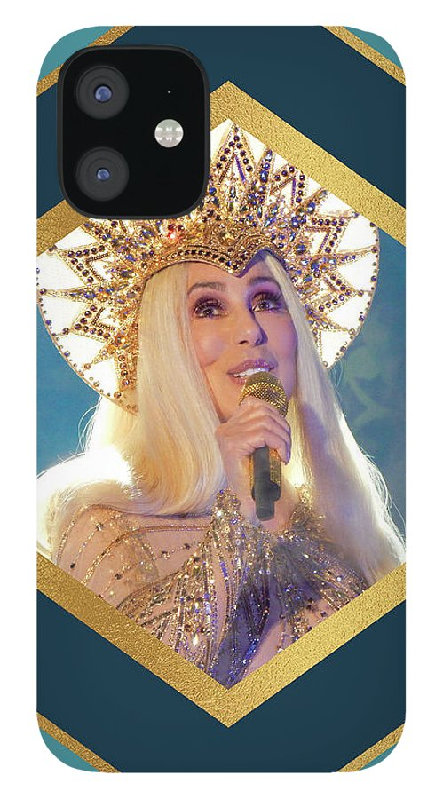 Cher IPhone 12 Case featuring the digital art Queen Cher by Cher Style