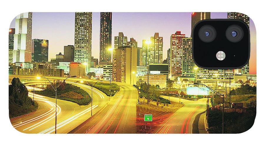 Atlanta IPhone 12 Case featuring the photograph Atlanta Skyline, Georgia, Usa by Travel Ink