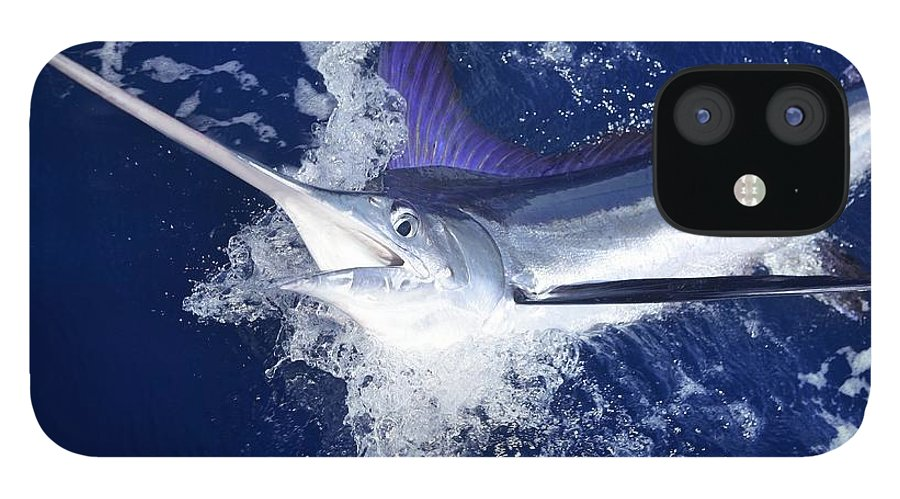 Big IPhone 12 Case featuring the photograph Atlantic White Marlin Big Game Sport by Lunamarina