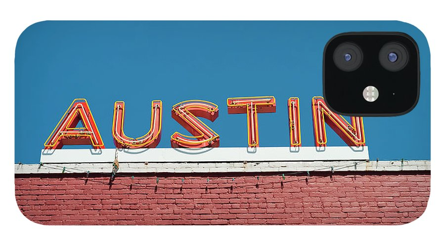 Sunlight IPhone 12 Case featuring the photograph Austin Neon Sign by Austinartist