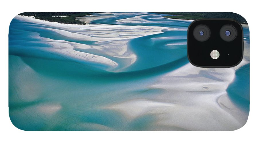 Scenics IPhone 12 Case featuring the photograph Australia,whitsunday Island, Whitehaven by Martin Barraud