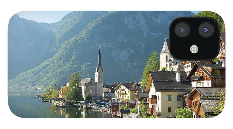 Scenics iPhone 12 Case featuring the photograph Austria, Salzburger Land, Hallstatt by Manchan
