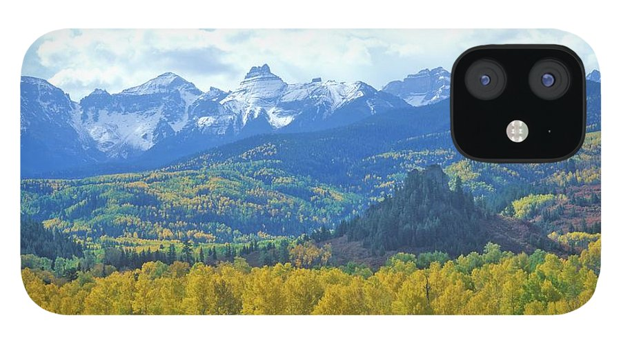 Scenics IPhone 12 Case featuring the photograph Autumn Colors In The Sneffels Mountain by Visionsofamerica/joe Sohm