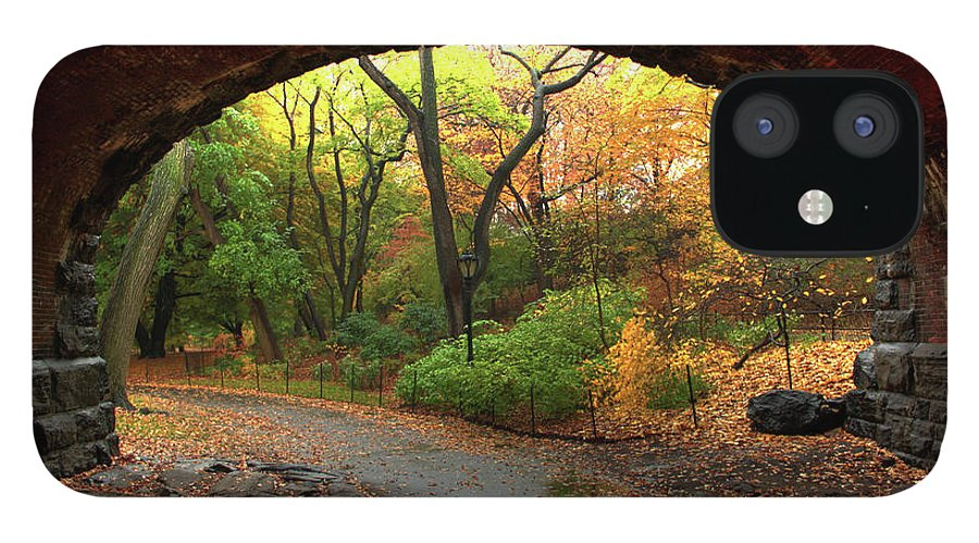 Arch IPhone 12 Case featuring the photograph Autumn Fall In Central Park by Ahmad Abdul-karim Photography