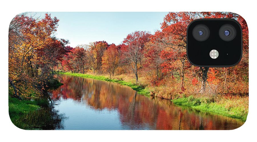 Water's Edge IPhone 12 Case featuring the photograph Autumn In Wisconsin by Jenniferphotographyimaging