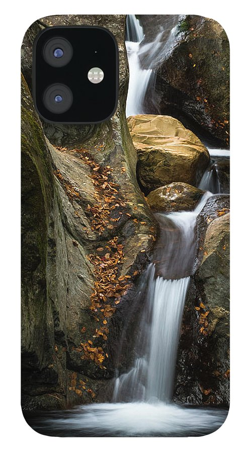 Autumn Waterfall IPhone 12 Case featuring the photograph Autumn Waterfall by Brenda Petrella Photography Llc
