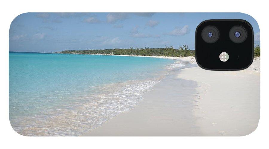 Wind IPhone 12 Case featuring the photograph Bahamas Beach Scene by Ngirish
