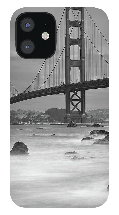 Tranquility IPhone 12 Case featuring the photograph Baker Beach Impressions by Sebastian Schlueter (sibbiblue)