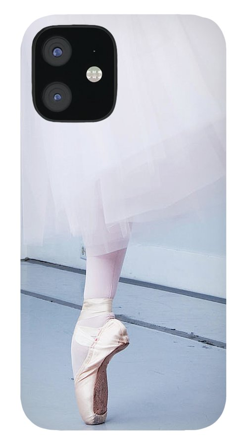 Expertise IPhone 12 Case featuring the photograph Ballerina On Pointe Low Angle View by Jonya
