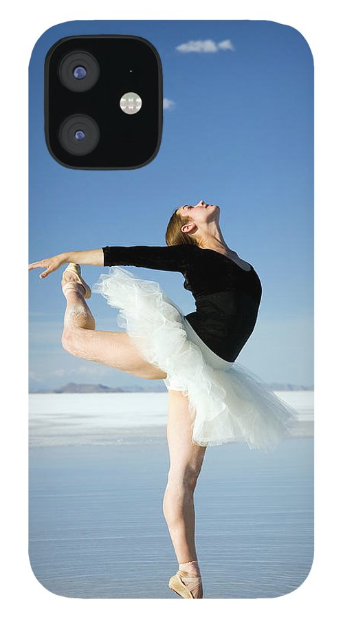 Ballet Dancer IPhone 12 Case featuring the photograph Ballerina Tip Toe Pose by Avid creative