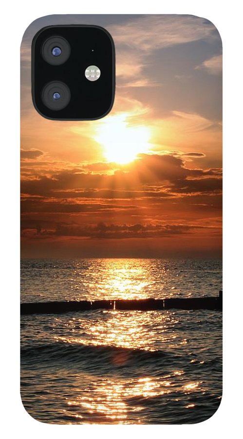 Tranquility IPhone 12 Case featuring the photograph Baltic Sunset by © Jan Zwilling