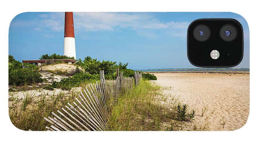 Water's Edge IPhone 12 Case featuring the photograph Barnegat Lighthouse, Sand, Beach, Dune by Dszc
