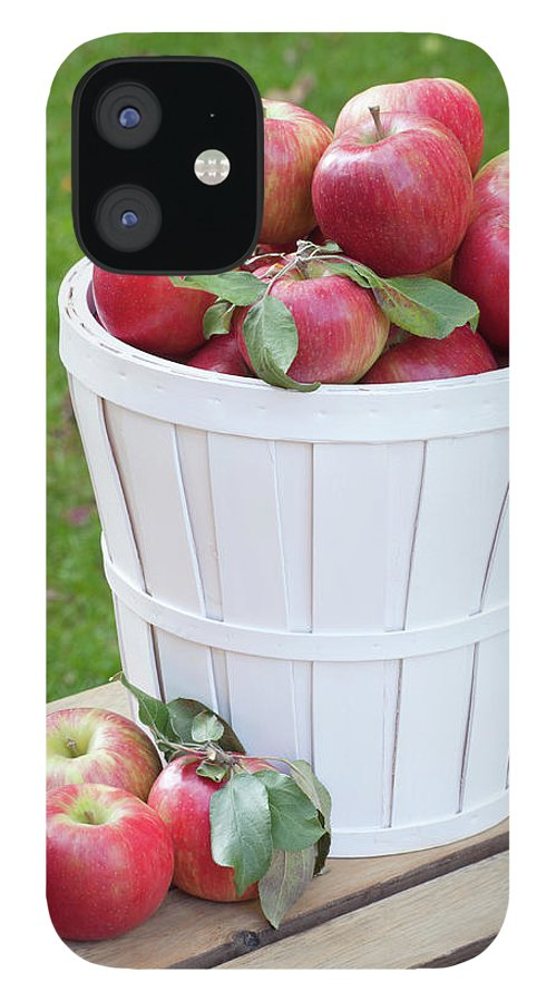 Outdoors iPhone 12 Case featuring the photograph Basket Of Honey Crisp Apples by Wholden