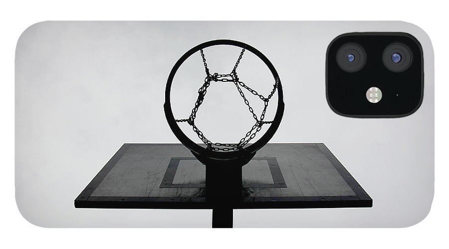 Outdoors iPhone 12 Case featuring the photograph Basketball Hoop by Christoph Hetzmannseder