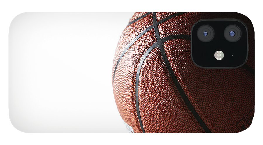 Recreational Pursuit IPhone 12 Case featuring the photograph Basketball On White Background by Thomas Northcut