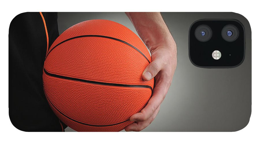 People IPhone 12 Case featuring the photograph Basketball Player by Mumininan