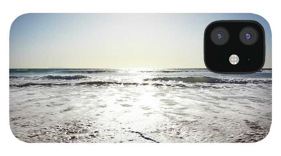 Tranquility IPhone 12 Case featuring the photograph Beach In California On Pacific Ocean by Thomas Northcut