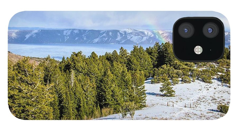 Tranquility IPhone 12 Case featuring the photograph Bear Lake Scenic Byway by ©anitaburke