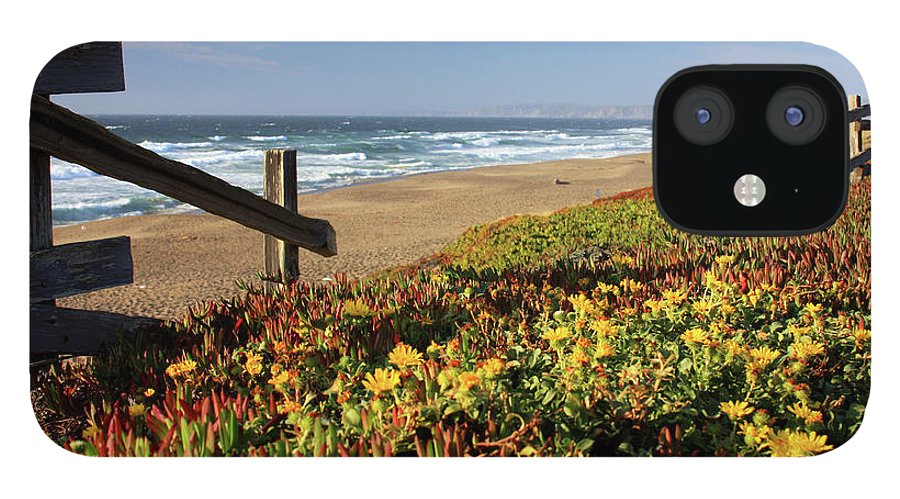 Water's Edge IPhone 12 Case featuring the photograph Beautiful California Beach Scene And by Ejs9