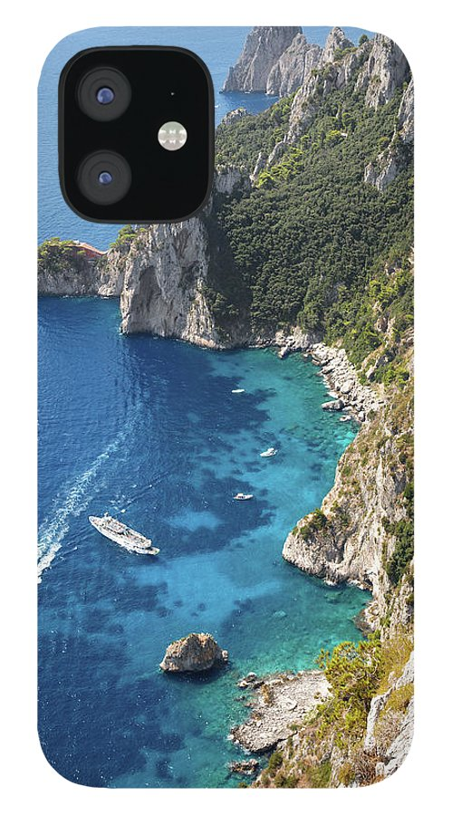 Scenics IPhone 12 Case featuring the photograph Beautiful Capris Sea by Pierpaolo Paldino