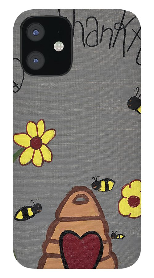 Bee Thankful IPhone 12 Case featuring the photograph Bee Thankful by Nina Marie