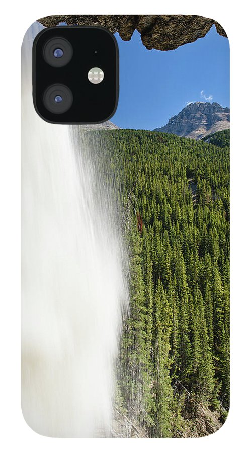 Behind Panther Falls - Vertical IPhone 12 Case featuring the photograph Behind Panther Falls - Vertical by Michael Blanchette Photography