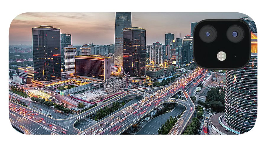 Downtown District IPhone 12 Case featuring the photograph Beijing Central Business District by Dukai Photographer