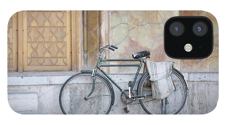 Tranquility IPhone 12 Case featuring the photograph Bicycle Outside The Imam Mosque by 717images By Paul Wood