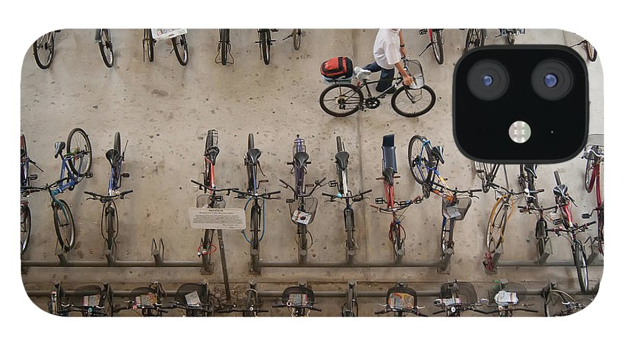 People IPhone 12 Case featuring the photograph Bicycle Park At Boon Lay Mrt Station by Kokkai Ng