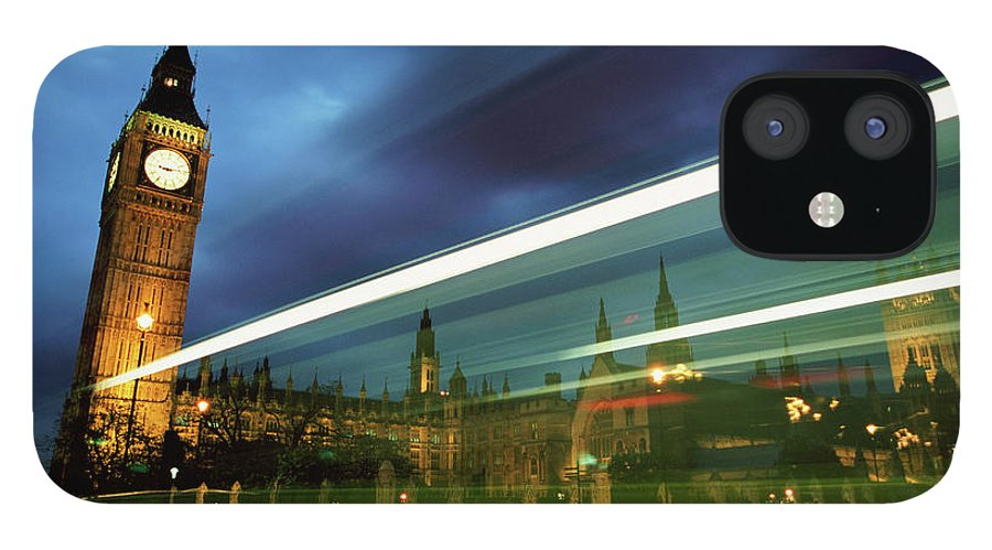 Gothic Style IPhone 12 Case featuring the photograph Big Ben And The Houses Of Parliament by Allan Baxter
