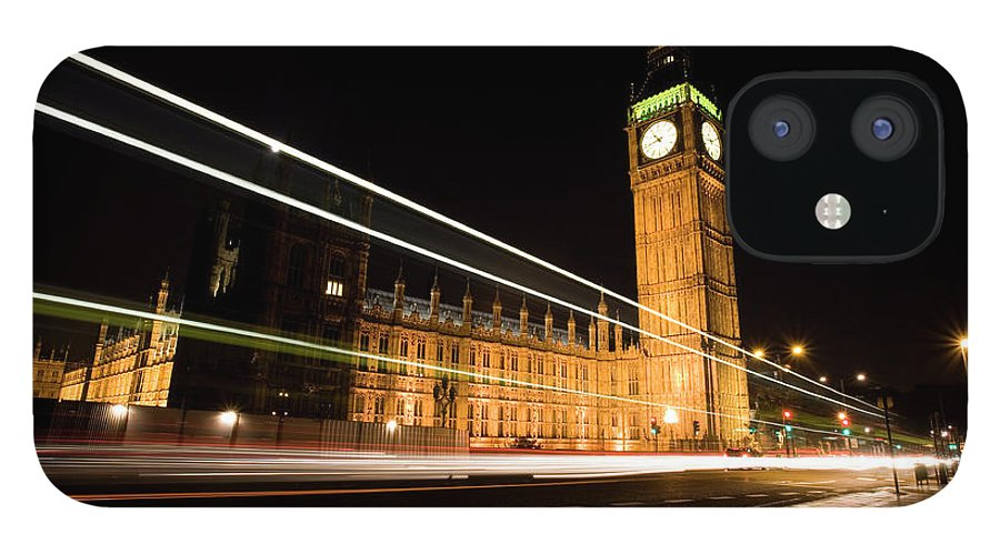 Clock Tower IPhone 12 Case featuring the photograph Big Ben At Night by Track5