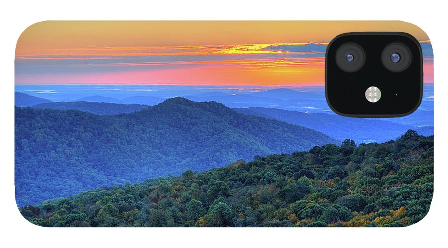Scenics IPhone 12 Case featuring the photograph Blue Ridge Mountains by Nikographer [jon]