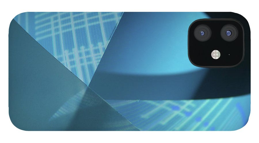 Curve iPhone 12 Case featuring the photograph Blueprint by Penfold
