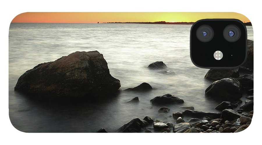 Water's Edge IPhone 12 Case featuring the photograph Bluff Point Sunset by Ericfoltz