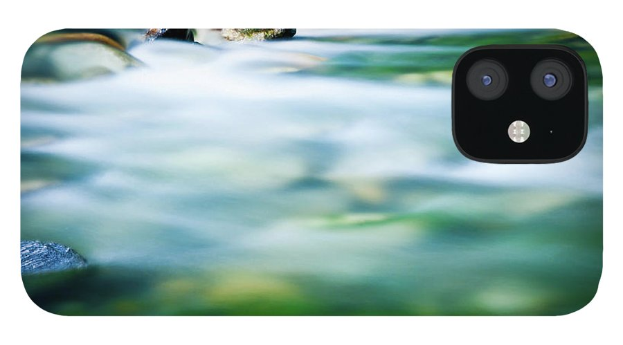 Scenics IPhone 12 Case featuring the photograph Blurred River by Assalve
