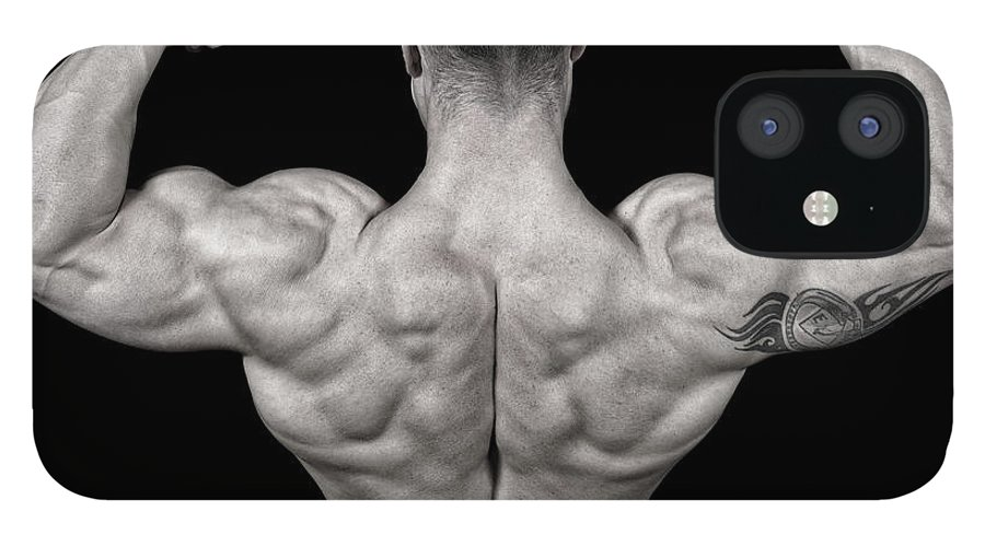 Toughness IPhone 12 Case featuring the photograph Bodybuilder Posing by Vuk8691