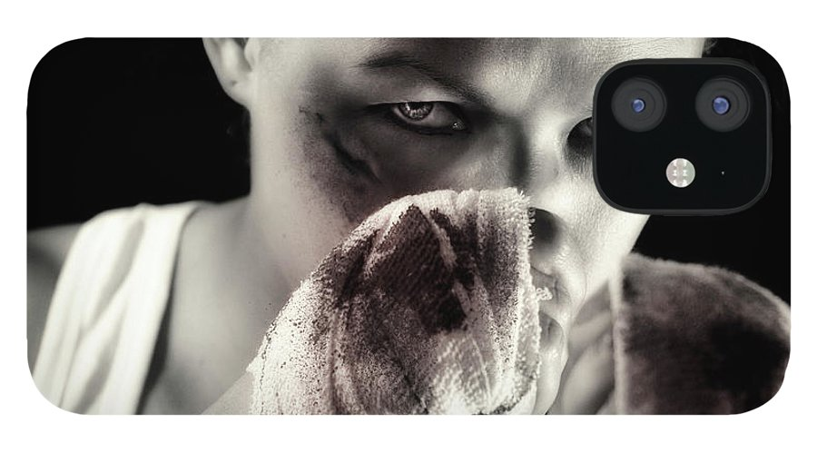 Toughness IPhone 12 Case featuring the photograph Boxing Girl by ...