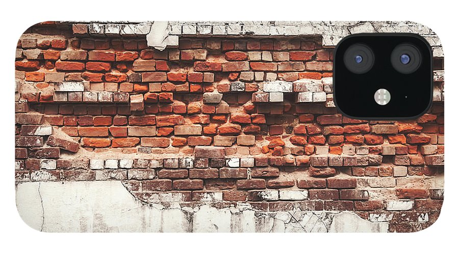 Tranquility IPhone 12 Case featuring the photograph Brick Wall Falling Apart by Ty Alexander Photography