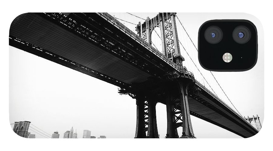Lower Manhattan IPhone 12 Case featuring the photograph Bridges by Blackwaterimages
