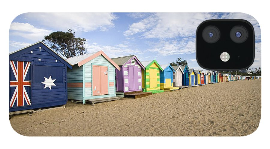 Steps IPhone 12 Case featuring the photograph Brighton Beach Huts by Samvaltenbergs