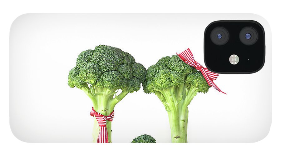 Broccoli IPhone 12 Case featuring the photograph Broccoli Dad, Mom And Baby by Stephanie Mull Photography