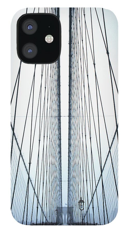 Suspension Bridge IPhone 12 Case featuring the photograph Brooklyn Bridge by Eric O'connell