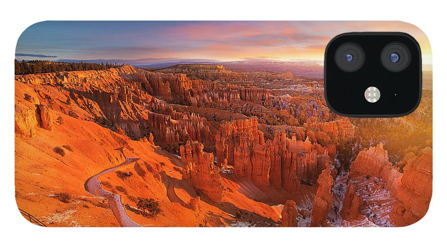 Scenics IPhone 12 Case featuring the photograph Bryce Canyon National Park At Sunset by Ankit Saxena