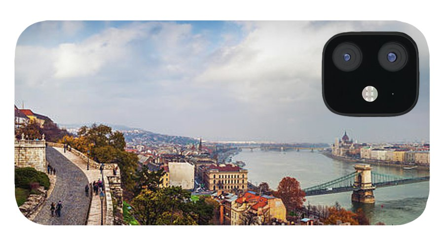 Hungarian Parliament Building IPhone 12 Case featuring the photograph Budapest - Sweeping View by John And Tina Reid