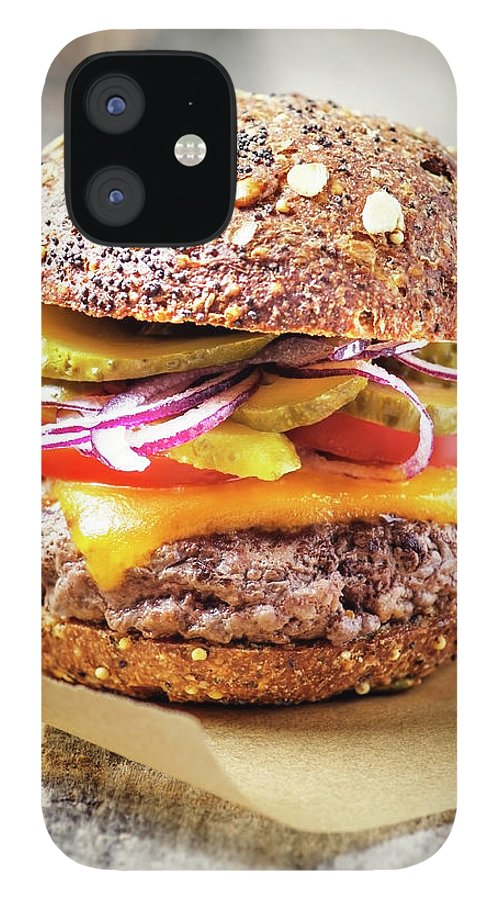 Bun IPhone 12 Case featuring the photograph Burger by Claudia Totir