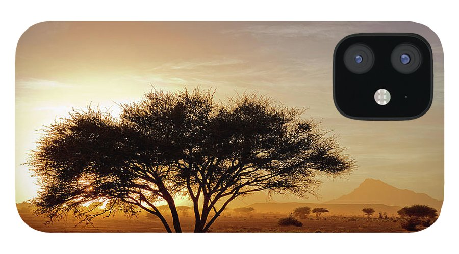 Tranquility IPhone 12 Case featuring the photograph Burning Desert by Bernd Schunack