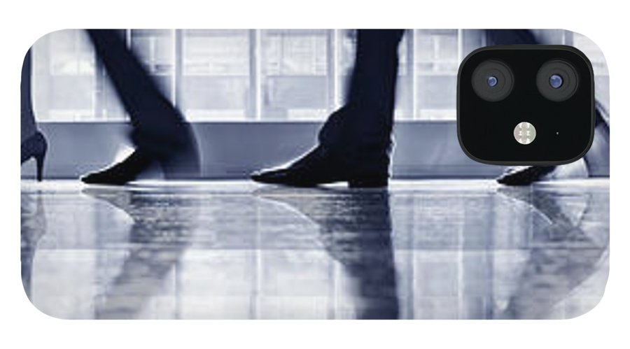 Corporate Business IPhone 12 Case featuring the photograph Businesspeople Walking In Lobby, Low by Poba