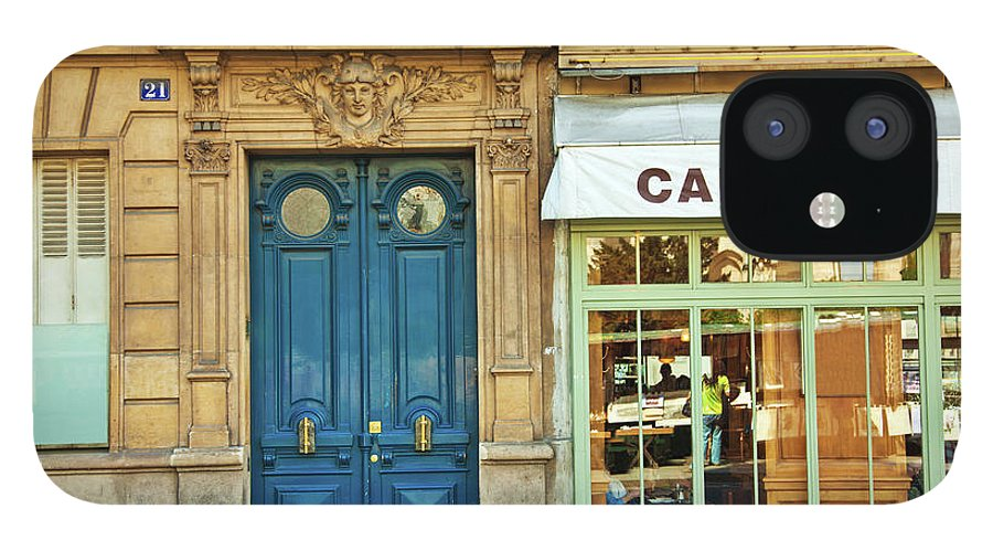 Diner IPhone 12 Case featuring the photograph Cafe In Paris by Nikada