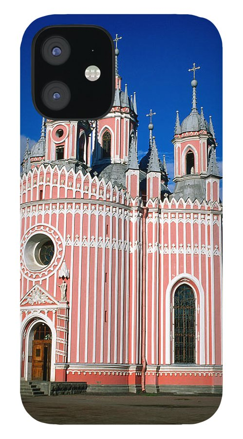 Gothic Style IPhone 12 Case featuring the photograph Candy Stripes Of Chesma Church, St by Lonely Planet