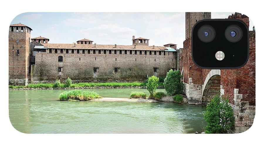 Veneto IPhone 12 Case featuring the photograph Castelvecchio And Ponte Scaligero by Alxpin